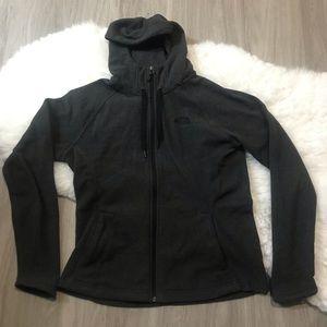 The North Face Zip Up Gray Long Sleeve Logo Jacket